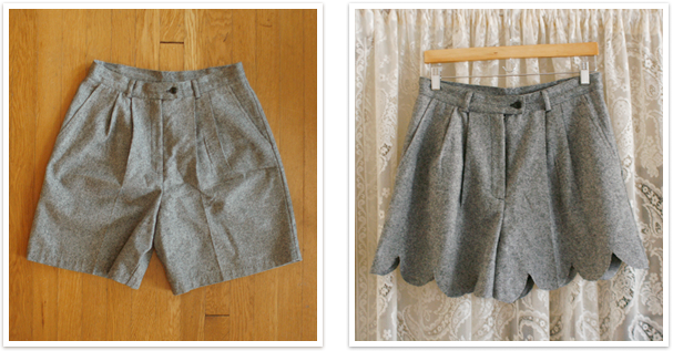 crafts for summer : no-sew scalloped shorts diy