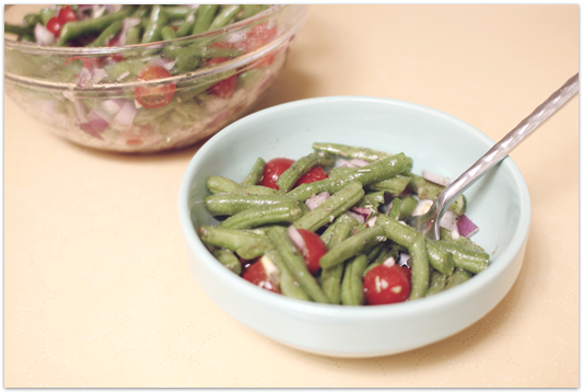 Raw-green-bean-salad-finished