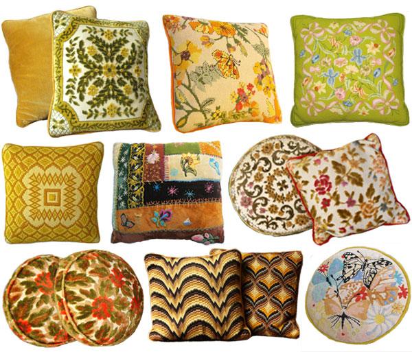 Vintage Pillows: Inspired By: Vintage Velvet & Tapestry Pillows