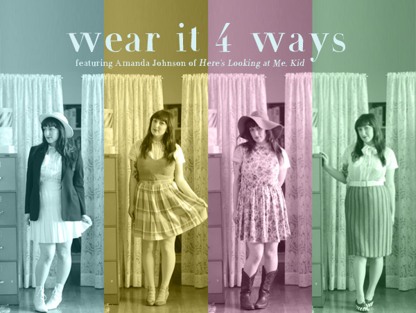 Wear it 4 Ways sheer vintage blouse