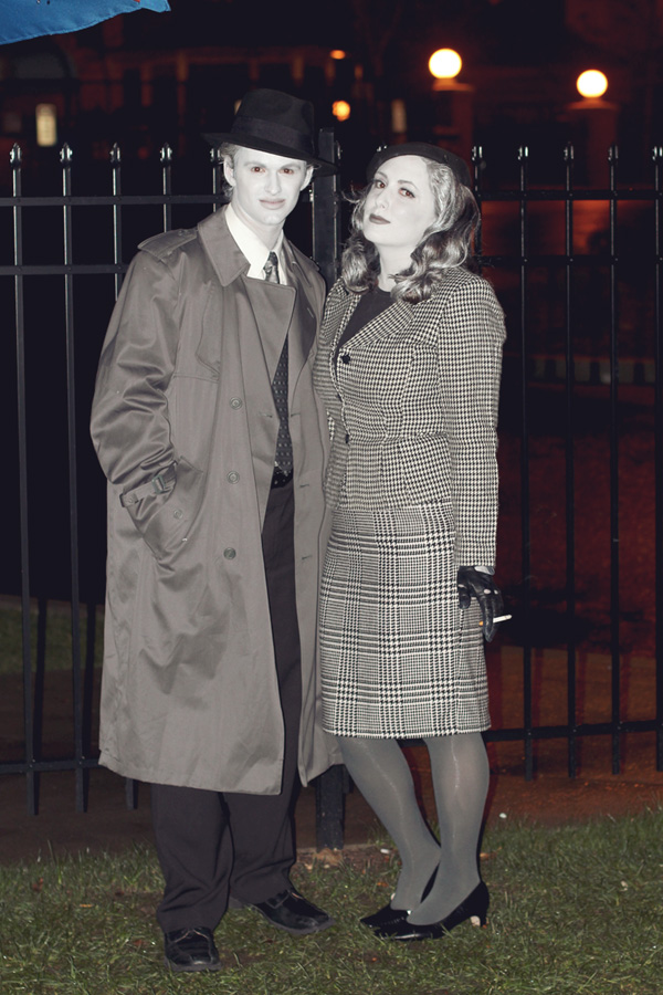 Being Bogie and Bacall | Halloween 2011 - Hereu0026#39;s looking at me kid
