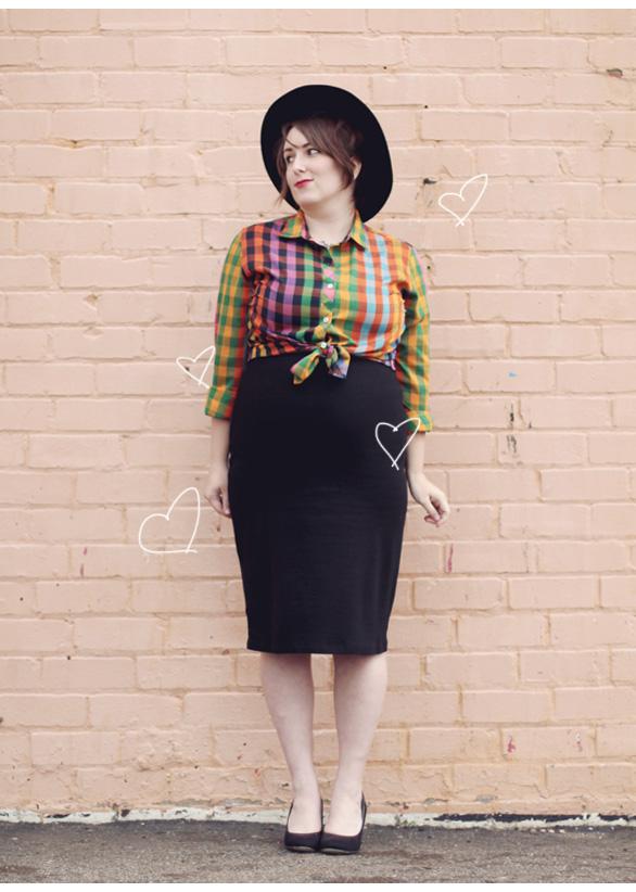 modern vintage maternity style