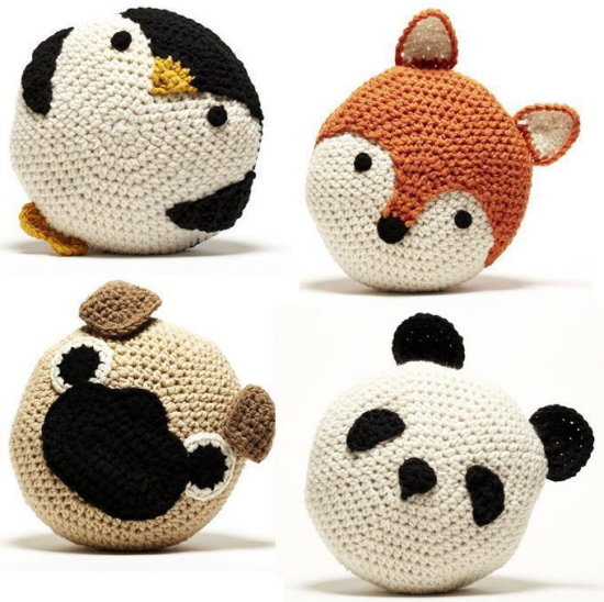Crocheting Animals : ON MY WISHLIST: Hand-Crochet Animal Cushions - Heres looking at me ...
